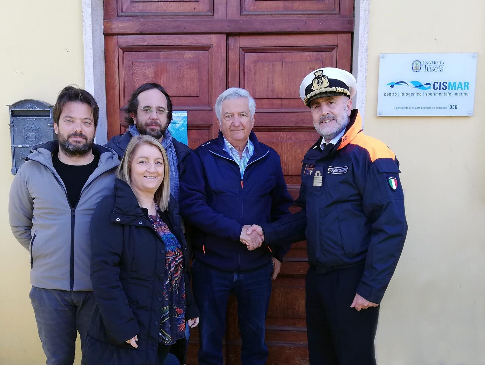 Il Comandate regionale della Guardia Costiera del Lazio in visita presso il Centro Ittiogenico Sperimentale Marino