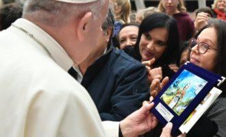 Santa Fermina nelle mani di Papa Francesco