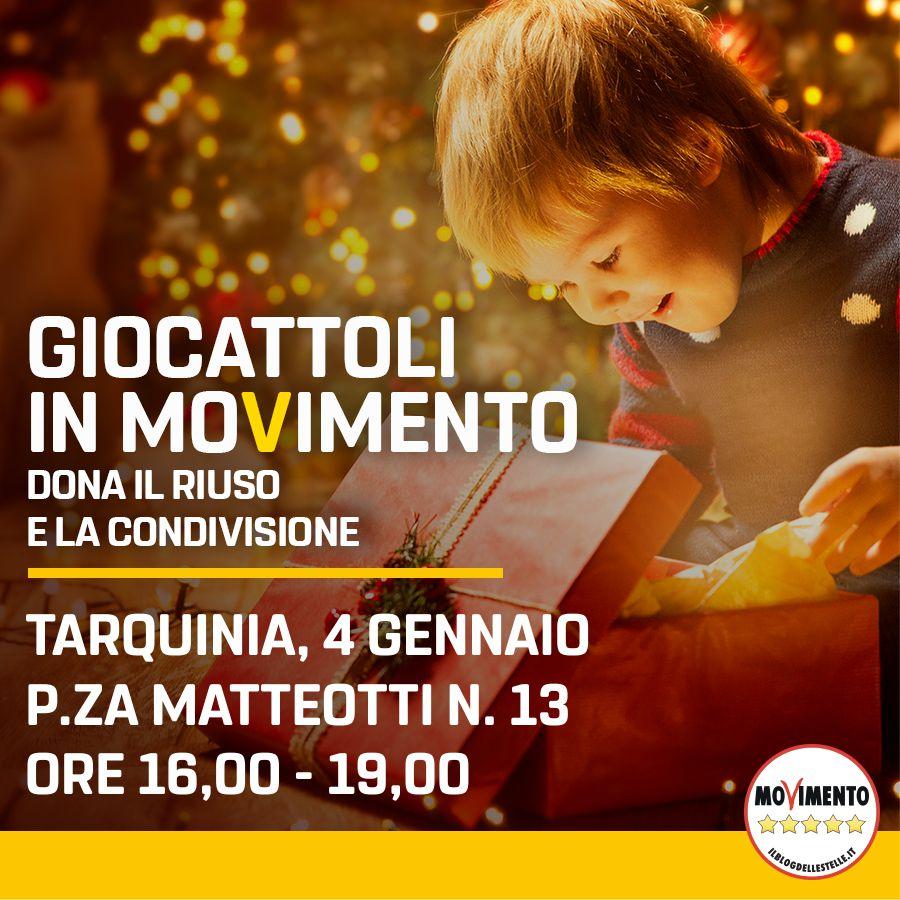 Giocattoli in Movimento: il 4 gennaio a piazza Matteotti a Tarquinia