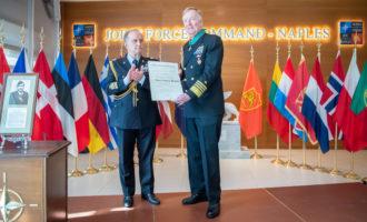 Comando JFC Naples: l'Ammiraglio James Foggo Commendatore dell'Ordine al Merito della Repubblica Italiana