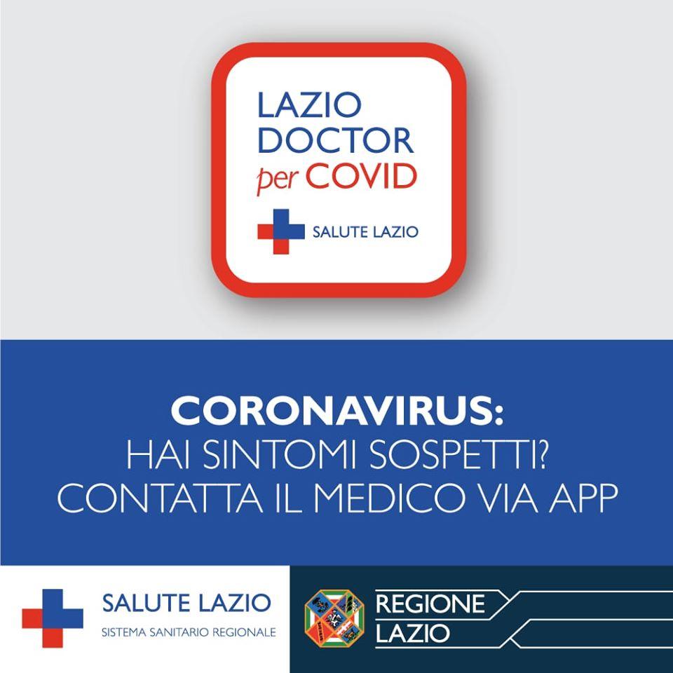 Attiva la nuova APP Lazio Doctor per Covid messa a disposizione dalla Regione Lazio