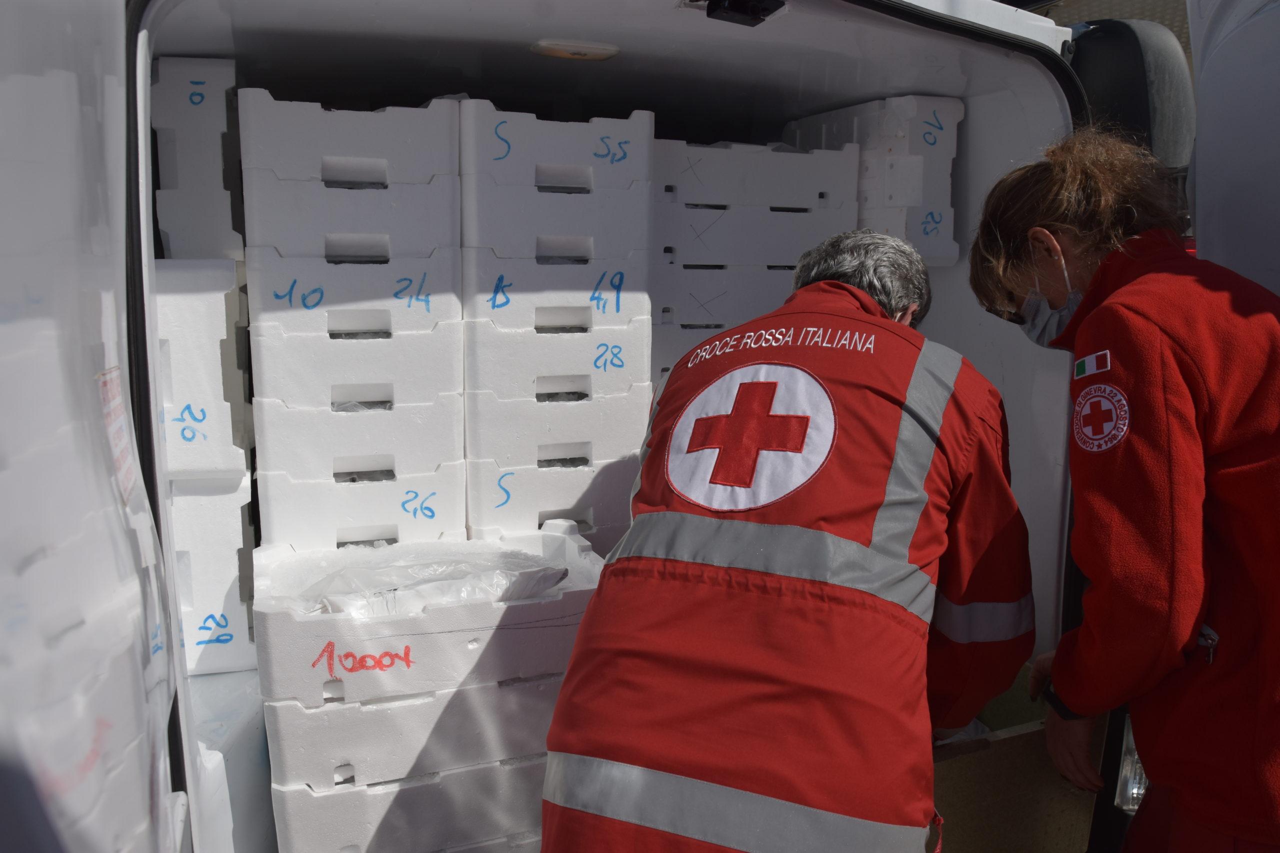 La Croce Rossa e la Protezione Civile consegnano pesce fresco ai bisognosi grazie a Civita Ittica