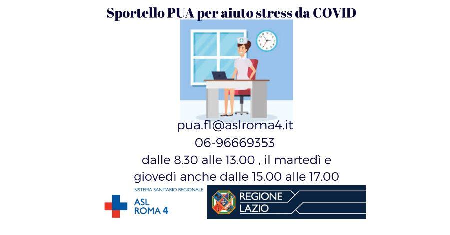 Asl Roma 4: Attivazione sportello PUA per Aiuto stress Covid