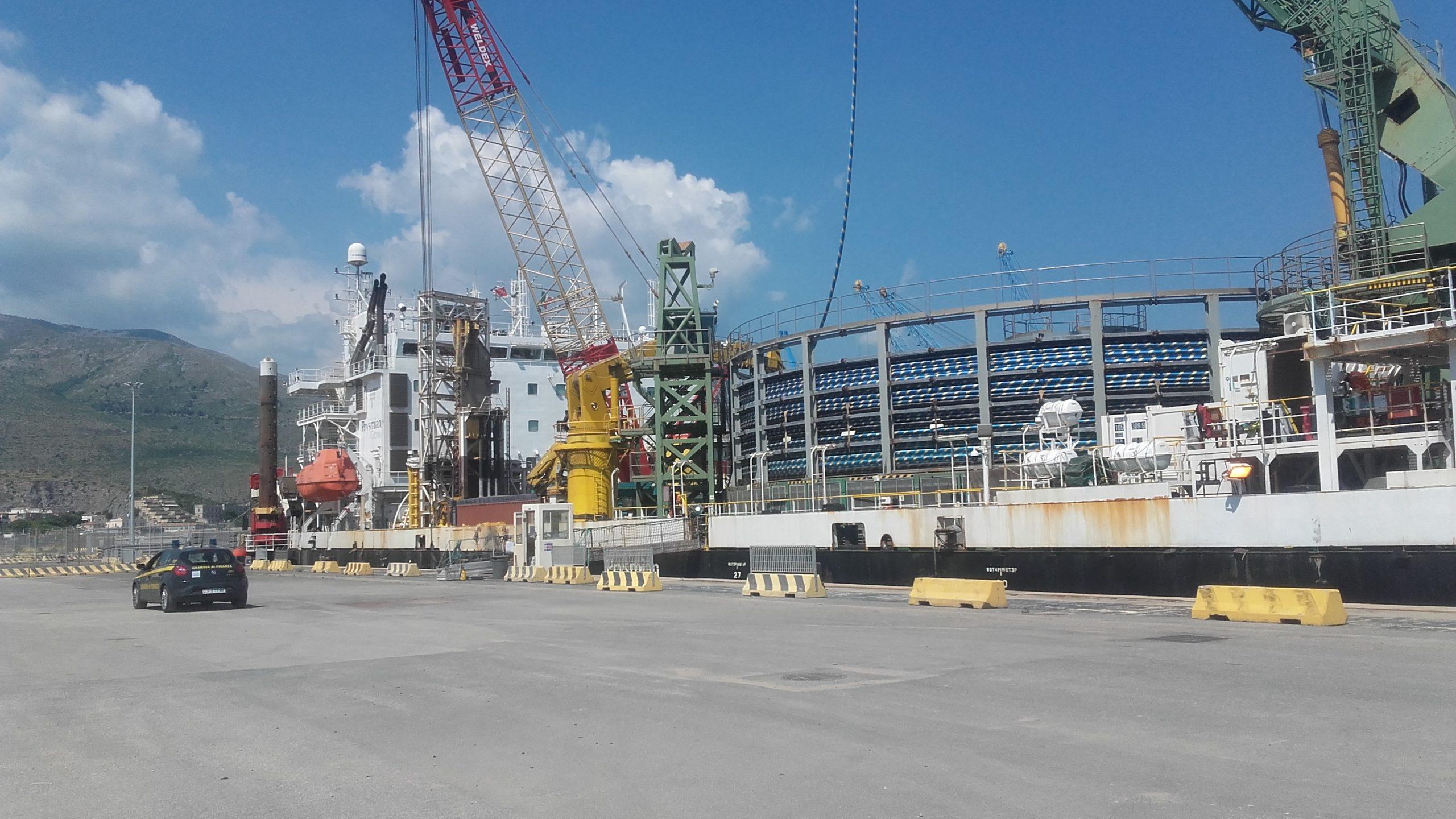 Nuovo importante traffico commerciale nel porto di Gaeta