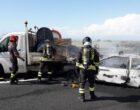 Civitavecchia: incidente stradale fra un'autovettura e un piccolo autocarro